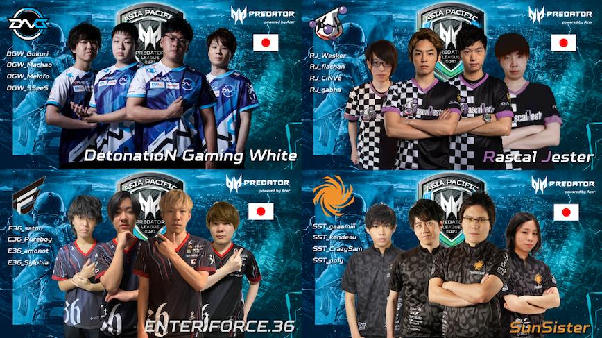 日本のチーム