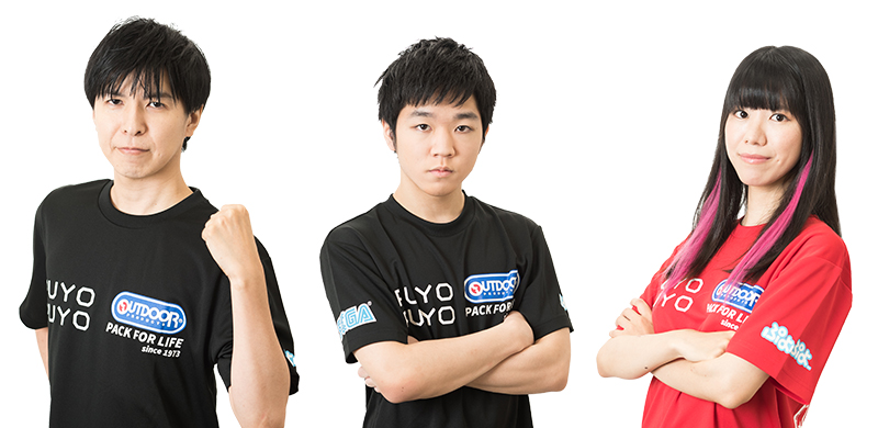 左からKamestry選手、あめみやたいよう選手、Tema選手
